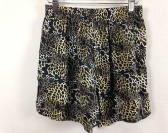 cheetah / leopard shorts size M