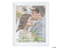 Custom Printable LDS Family Proclamation // Digtial File