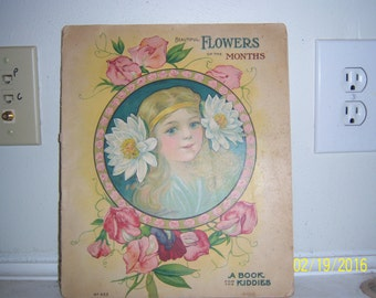 1918 Flowers of the Months EM Leavens Co NY Stecher Lithograph Co