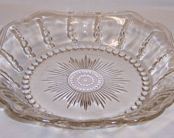Federal Crystal Depression Glass COLUMBIA 8 Inch Low SOUP BOWL