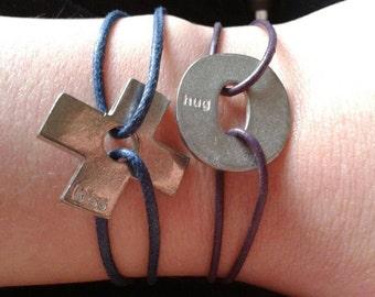 Adjustable Hugs And Kisses Friendship Bracelets
