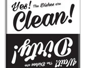 Guajolote Prints Dishwasher Sign with Magnet