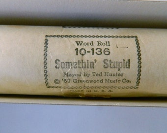 Something Stupid - Piano Roll - Vintage Player Piano Music in Box