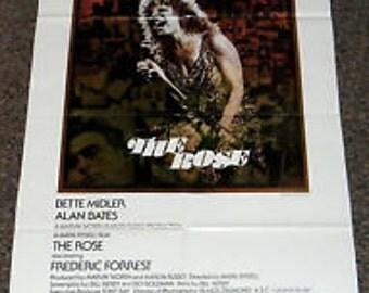 Vintage Original Movie Poster 1- sheet  The Rose Bette Midler