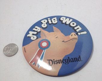 Vintage Licensed Button : Disney county fair  disneyland