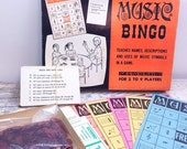 ON SALE Vintage Music Themed Bingo