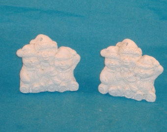 Plaster ornaments etsy for Plaster crafts to paint