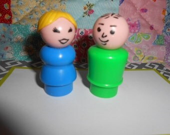 Fisher Price Little People Lady/Mother and Man/Father
