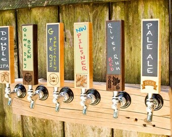 Chalkboard tap handle