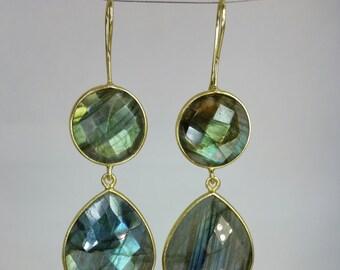 Labradorite Double Drop Earrings
