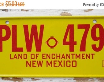 ON SALE Vintage, New Mexico, 1980, Bike Plate, Bicycle, License Plate, Cereal Premium, Miniature, Tin, Collectibles