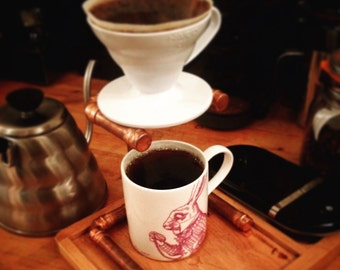 Copper Pour Over Drip Coffee Hario or Aeropress Stand
