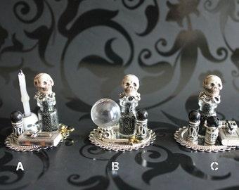 Dollhouse miniature gothic set MEMENTO MORI  C