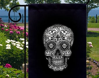 Sugar Skull New Small Garden Flag Events Gifts Day of the Dead