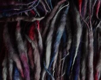 OOAK ELFLOCKS Dreadlocks Dread Falls in Soft Grey/Heather/Red for Cosplay, LARP, Tribal Belly Dance, Festivals, Alt Fashion, Performance