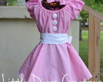 Twirling Party dress with matching bow