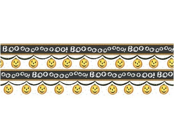 Charmed Boo Pumpkin vertical Stripe by Quilting Treasures Yardage REDUCED