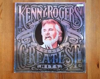 "Kenny Rogers – Twenty Greatest Hits  (1983) Vintage Vinyl 12"""