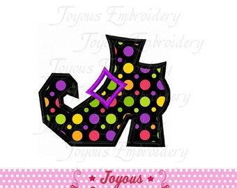 Instant Download Halloween Witch Boot Applique Machine Embroidery Design NO:2204
