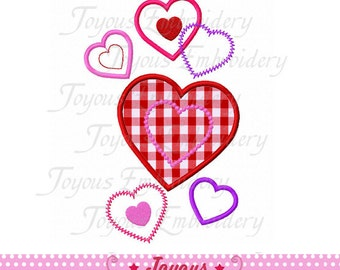 Instant Download Valentine's Day Heart Applique Machine Embroidery Design NO:1950