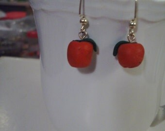 Red Apple Earrings - Free Shipping