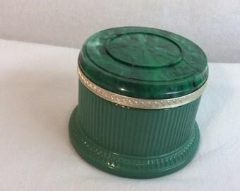 Vintage Avon Jar Turquoise with Swirl Marble Lid