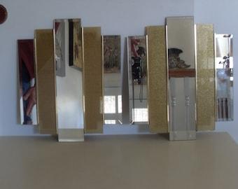 Vintage Pair of Hollywood Regency Decorative Mirror Panels