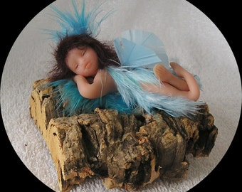 Fairy Angel miniature ooak hand crafted polymer clay sprite art doll