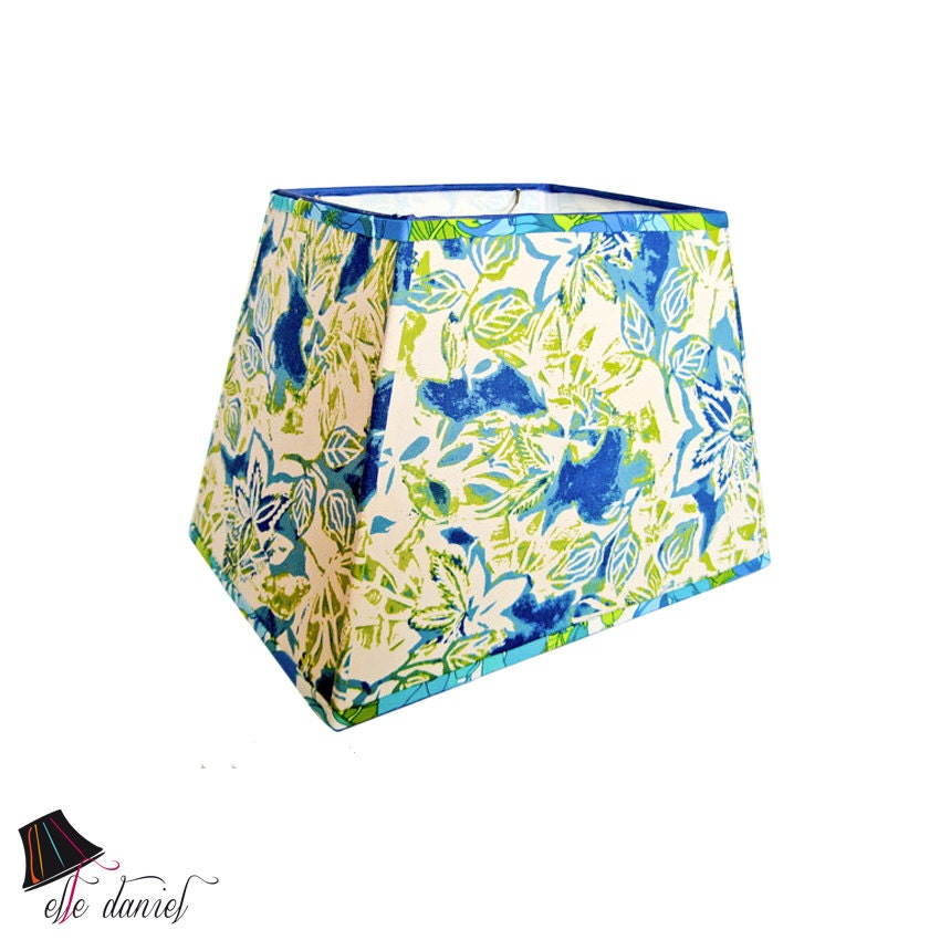 large lamp shade rectangular lamp shades blue and green. Black Bedroom Furniture Sets. Home Design Ideas