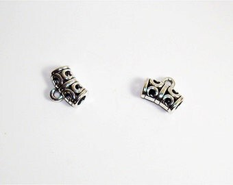 20 PC.Curved Antique Silver Plated DIY Jewelry Bail//10mm x 12mm inner diameter 3mm bail//Antique Silver Jewelry Bail//Color Kissed Silk LLC