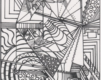 Enlighten Abstract Coloring Page