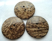 50mm Coconut Buttons Pack of 3 Large Button W5005 Two Inch Button