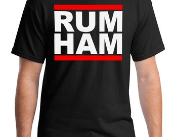 RUM HAM T-shirt. Men and Women sizes. Inspired by iasip tv show.