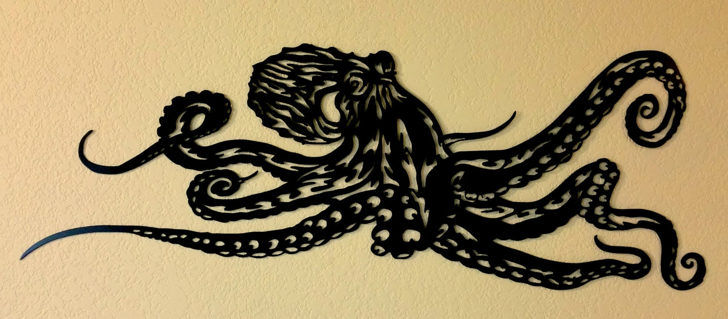 octopus metal wall art by bcmetalcraft on etsy