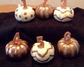 FALL..Pumpkin..Table Numbers..Wedding..Halloween..Event..Thanksgiving..Set of Six