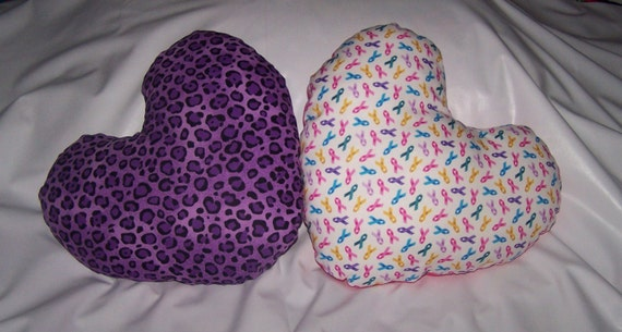 Heart Shaped Breast Cancer Pillow Helps Provide By
