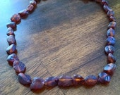 raw cognac baltic amber teething necklace
