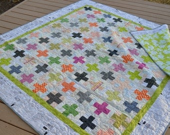 Modern Plus Quilt Queen Size Free Shipping