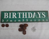 Family Celebration and Birthday Board in Glazed Teal..........HAVENSPLACE....Mothers Day....Christmas