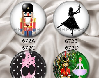 """Nutcracker Sweeties - Interchangeable Magnetic Design Inserts - FIT Clique and Magnabilities 1"""" Jewelry Bases...672"""