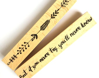 Set of 2 Wooden / Rubber Stamps Try