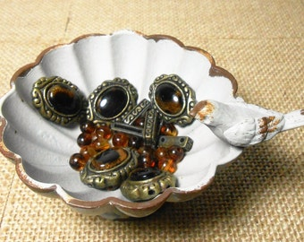 Vintage Beads, Gold, Brown, Mixed Beads, Bulk Beads, Spacer Beads, Craft Supplies, Destash, Bracelet Beads, Necklace Beads