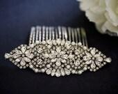 Ava - Bridal hair comb - Vintage style crystal Hair combs Wedding hair accessory  - Crystal headpiece - Rhinestone Hair Piece