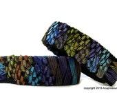 Acupressure Anti Nausea Bracelets for travel, morning sickness, vertigo, stomach issues. Adjustable and comfortable. Peacock