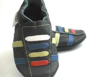 soft sole baby shoes handmade infant sport black olive blue red white 6 12 bebe cuir souple Krabbelschuhe Lederpuschen ebooba SP-30-B-M-2