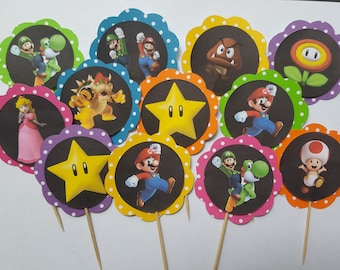 Super Mario Cupcake Toppers (2 Choices)