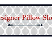 """1 White Storm Fynn 18"""" pillow cover and 1 Grey Storm Fynn 18"""" pillow cover"""