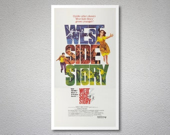 West Side Story, Natalie Wood  Vintage Movie Poster - Poster Paper, Sticker or Canvas Print / Gift Idea
