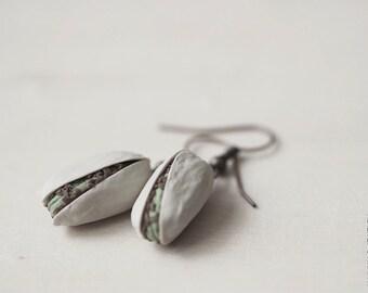 Pistachios Earrings - Food Jewelry - Vegan Earrings