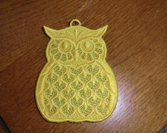 Embroidered Ornament - Christmas - Owl